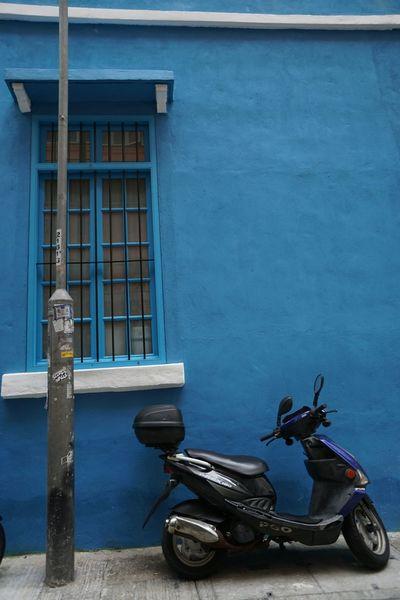 No People Outdoors Motorcycle Architecture Building Exterior Day HongKong Hong Kong Hongkong Photos Cityscape Architecture Hong Kong Island Blue The Still Life Photographer - 2018 EyeEm Awards
