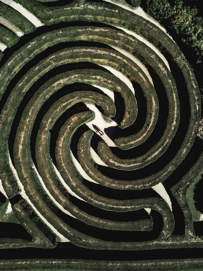 Full frame shot of spiral staircase