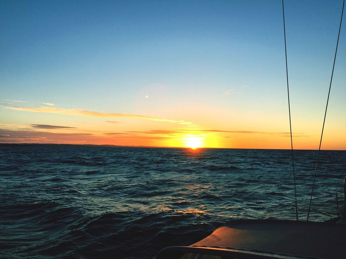 Ocean Midsommernight Horizon Over Water Water Boat Sea Beauty In Nature Nature Outdoors Salling Sunrise