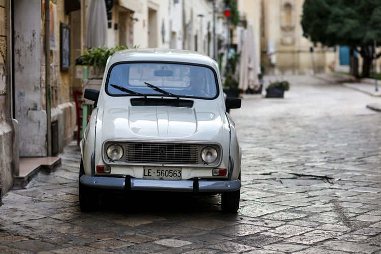 Lecce Lecce Lecce - Italia Lecce City Lecce, Italy Citroen Old Town Oldtown Cobbled Streets History Travel Travel Destinations Italy Restricted Access City Car Street Motor Vehicle Building Exterior Built Structure Retro Styled Outdoors Cobblestone No People Vintage Car Day
