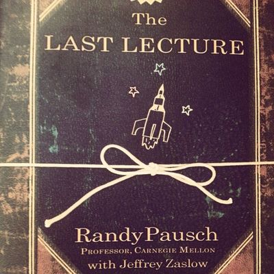 Thank you Randy Pausch for guiding mojority of my decisions and outlooks on what approaches me. Randy Pausch Thelastlecture Phenomenal standingmotivation positivity book