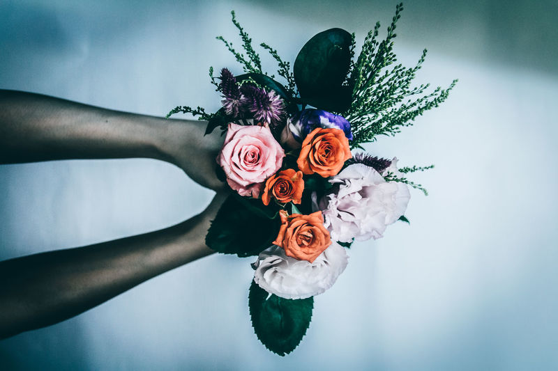 Drastic Edit Muted Colors Perfume Atmospheric Mood Naturelovers Beauty In Nature Bouquet Fine Art Darkness Day Florist Flower Flowers Fragility Freshness Human Hand Indoors  Leaf Multi Colored Nature People Petal EyeEm Best Shots EyeEm Best Edits Mysterious
