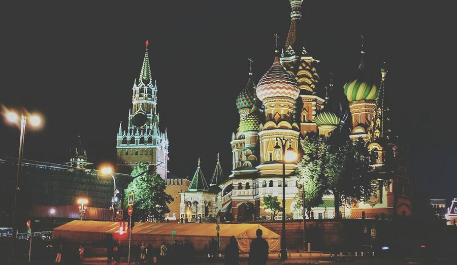 Night Architecture Religion Travel Destinations City Illuminated Outdoors Building Exterior Tree People Cityscape Sky Clock Moscow City Moscow Moscowstreets Cityscape Kremlin In Moscow Built Structure History Politics And Government Tree Reflection Nature Government