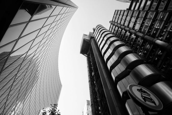 Black and White photo of The Lloyds building by Richard rogers in London Architecture LONDON❤ London Richard Rogers The Lloyds Building Architecture Building Building Exterior Built Structure City Clear Sky Day Financial District  Modern No People Office Office Building Exterior Outdoors Rogers Sky Skyscraper Tall - High Tower