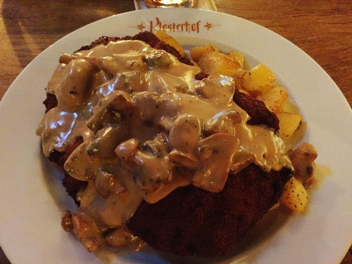 Jägerschnitzel Schnitzel Delicious ♡ Yummy♡ Deutsche Küche Foodporn❤️