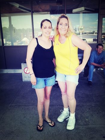 Me & Melissa In Front Of Dunkin Donuts Whoop!  Whoop!