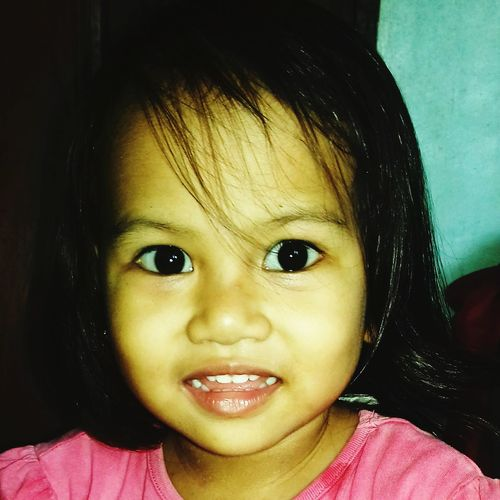 """""""the Innocence of a child,.can be seen thru her Eyes"""".. #portrait #Child #childhood #smiling #mydaugther Looking At Camera Smiling Happiness Headshot Human Face Cute Protruding Children Preschooler"""