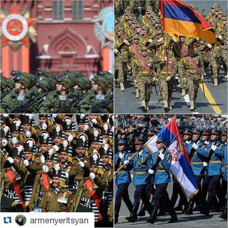 Repost @armenyeritsyan ・・・ ПарадПобеды антифашистскаякоалиция победаоднанавсех армия россия армения индия сербия деньПобеды 9мая russia armenia serbia india ussr нетнацизму нетвойне нетфашизму мыблагодарнывамветераны