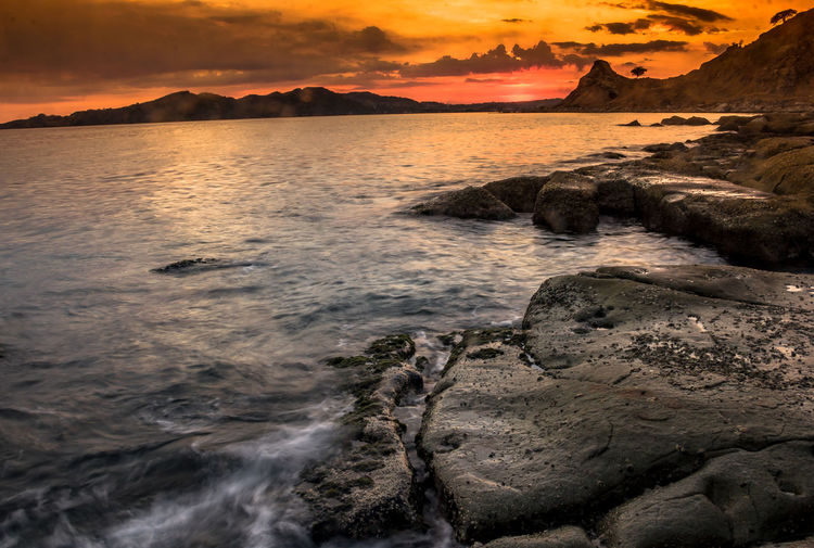 Bataan Philippines BataanBeach Sunset_collection Beach Beauty In Nature Idyllic Scenics - Nature Sunset Tranquil Scene Tranquility Water