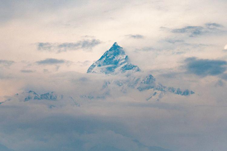 Himalaya mountain view from pokhara - nepal