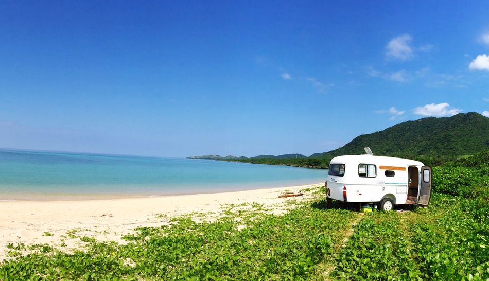 Sea Sky Beauty In Nature Beach Outdoors Camping Trip! Ocean Camping Coral Horiday Nature Beachphotography Beach Life Seaside Sea And Sky Sea View EyeEm Nature Lover Okinawa