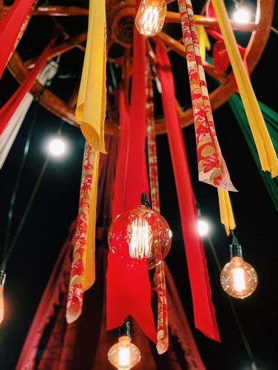Hanging Decoration Lighting Equipment Illuminated Holiday Low Angle View Celebration No People Ceiling Indoors  Event Red Lantern Close-up Electricity  Built Structure