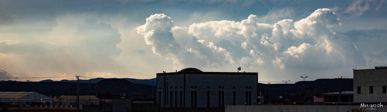 Cloudy sky Cloud - Sky Sky Architecture Building Exterior Built Structure Building City