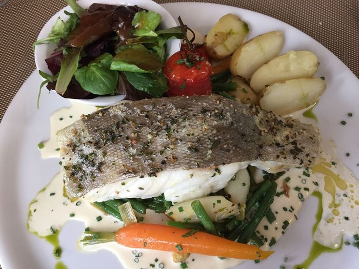 Food French Dish Freshness Indoors  No People Plate Poisson Du Jour Potatoes Ready-to-eat Salad White Fish Yummy