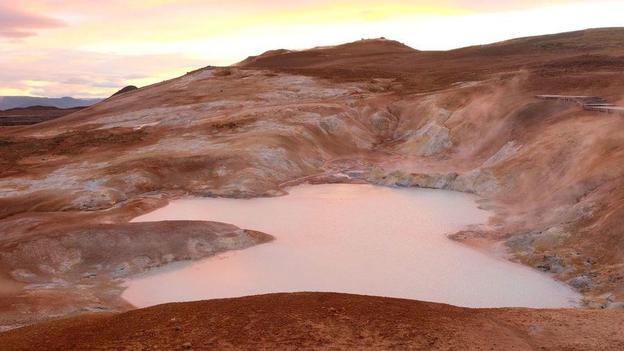 Hot lake.