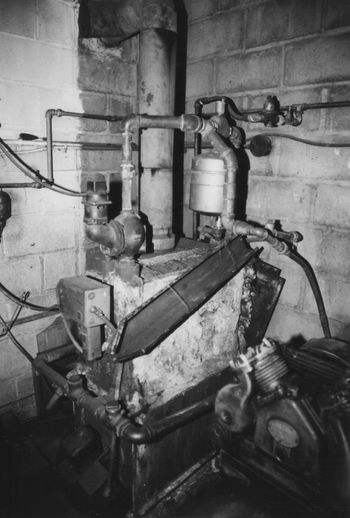 Still works! Old Boiler Connection Equipment Highly Efficient No People Older Technology Pipe - Tube Technology