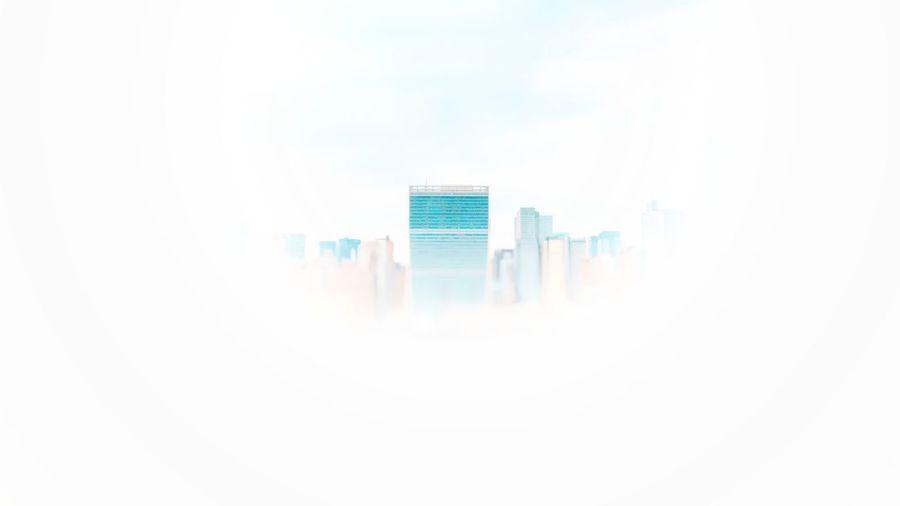Buildings against sky in city