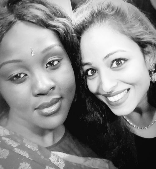 😍😍 African & Indian Looking At Camera Headshot Happiness Young Women Togetherness Beauty EyeEmBestPics EyeEm Best Shots - Nature Check This Out Friendship Celebration Looking At Camera Fashion Photography Randomness Smart Girl