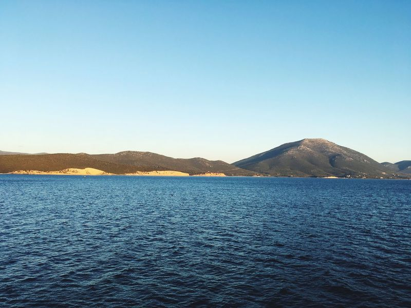 Natural life chart! Horizon Over Water Mediterranean  Landscape Chart Sun Rising Sea And Blue Sky Curves And Lines Tranquil Scene Scenics Copy Space Water Beauty In Nature No People Mountain Range Blue View Into Land
