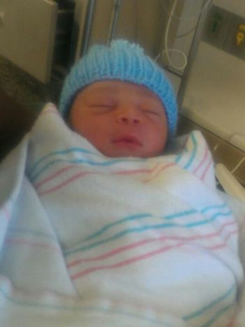 When Chris was 1 day old!