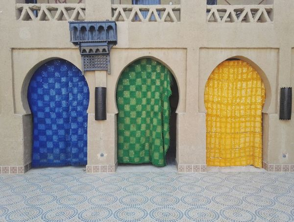 Building Exterior Berber  Architecture Curtain Curtains Color Colors Merzouga Marrocco