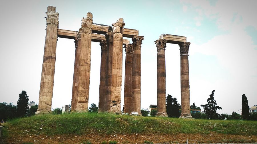 Temple Of Zeus  Zeus/Poseidon Olympia Of Zeus Temple Of Olympian Zeus Greece History Lovely Trip Photo Trip
