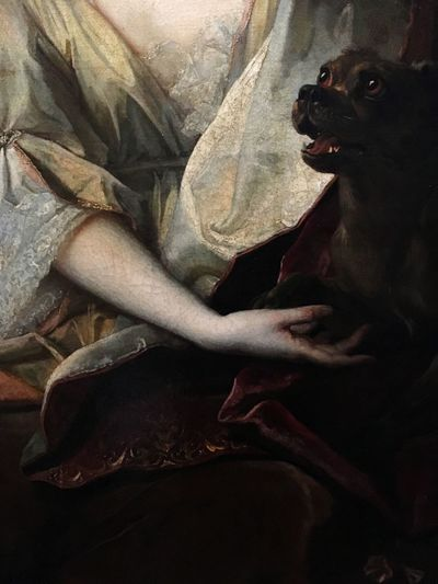 Lady with a dog Oil On Canvas Oil Painting Renaissance Dog Smiling Dogs Of EyeEm Baroque Style Baroque Style Classic Painting Painting Domestic Dog Pets Dog One Animal Animal Themes Domestic Animals Mammal Human Body Part