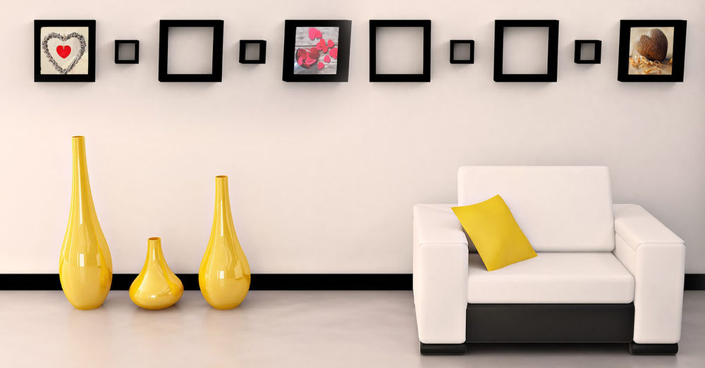 interior design photo Interior Home Interior EyeEm Selects Yellow Painted Image Picture Frame Fine Art Painting Modern Art Art Studio