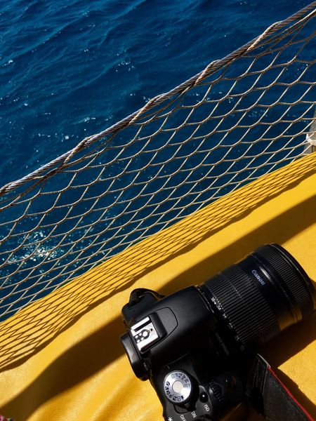 Blue Color Color Block Taking Photos Taking Pictures Traveling Blue Camera - Photographic Equipment Canon Close-up Colorblocking Contrast Net No People Outdoors Sea Technology Water Yellow Yellow Color