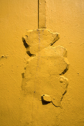 Abstract Architecture Backgrounds Building Exterior Built Structure Close-up Cracked Day Full Frame Lightning Conductor No People Outdoors Paint Textured  Wall - Building Feature Weathered Yellow