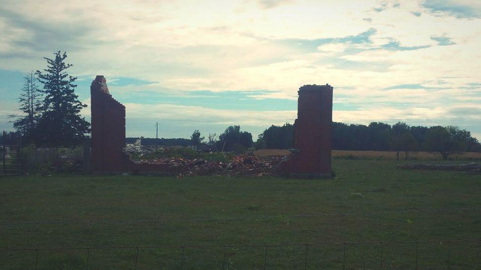 Abandonment Countryside In Ohio Destruction Bricks Fall In Ohio United States