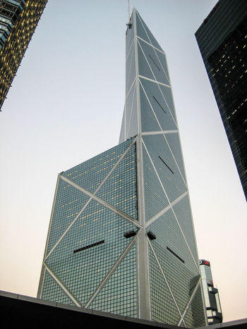 Bank of China building in Hong Kong Hong Kong Architecture Bank Of China Bank Of China Tower Building Building Exterior Built Structure City Clear Sky Construction Industry Day Glass - Material Low Angle View Modern Nature No People Office Office Building Exterior Outdoors Sky Skyscraper Tall - High Tower