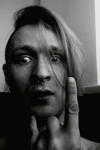 Punx Punks It's Me Gotic Black & White Black And White Monochrome Piercing Eye4photography  EyeEm Best Edits
