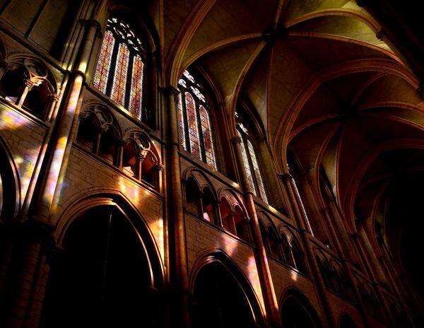 Church Architecture Vitrail Light