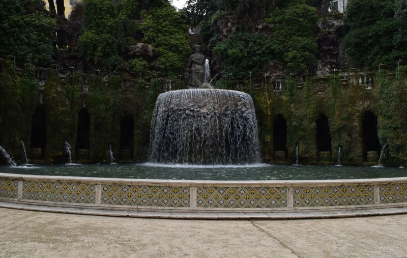 Art And Craft Beauty In Nature Day Flowing Flowing Water Fountain Motion Nature Outdoors Park - Man Made Space Plant Scenics Sculpture Splashing Spraying Tree Villa D'Este Water Waterfall