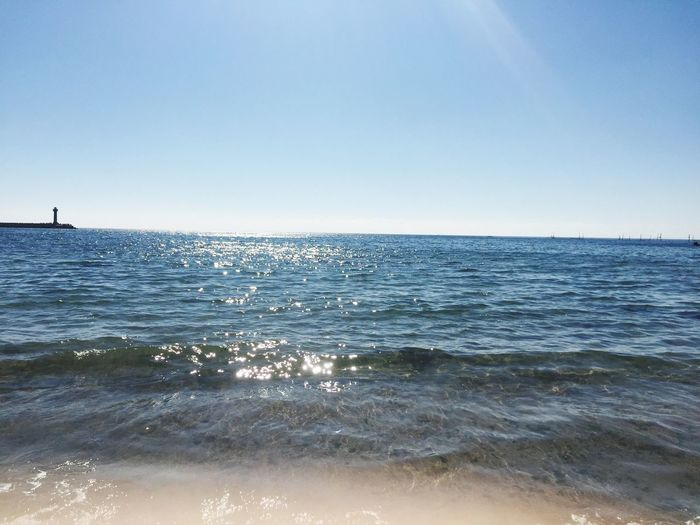 Water Scenics Horizon Over Water Copy Space Beauty In Nature Clear Sky Nature Tranquility Blue Tranquil Scene Outdoors Sunlight Sky Day Beach No People Wave Bulgaria My Favorite Place Born And Raised Near To The Sea Good Morning My Place Varna Bulgaria Bulgarie