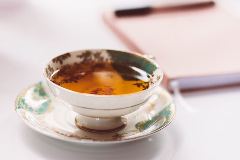 Close-up of juice in bowl on table