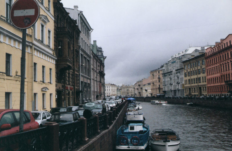 Architecture Boat Boats Building Building Exterior Canal Car City City Life Cloud - Sky Day Historical Center No People The Architect - 2016 EyeEm AwardsOvercast Quay Residential Building Residential Structure Saint Petersburg Sky The Moyka River Transportation Travel Destinations Water Weather