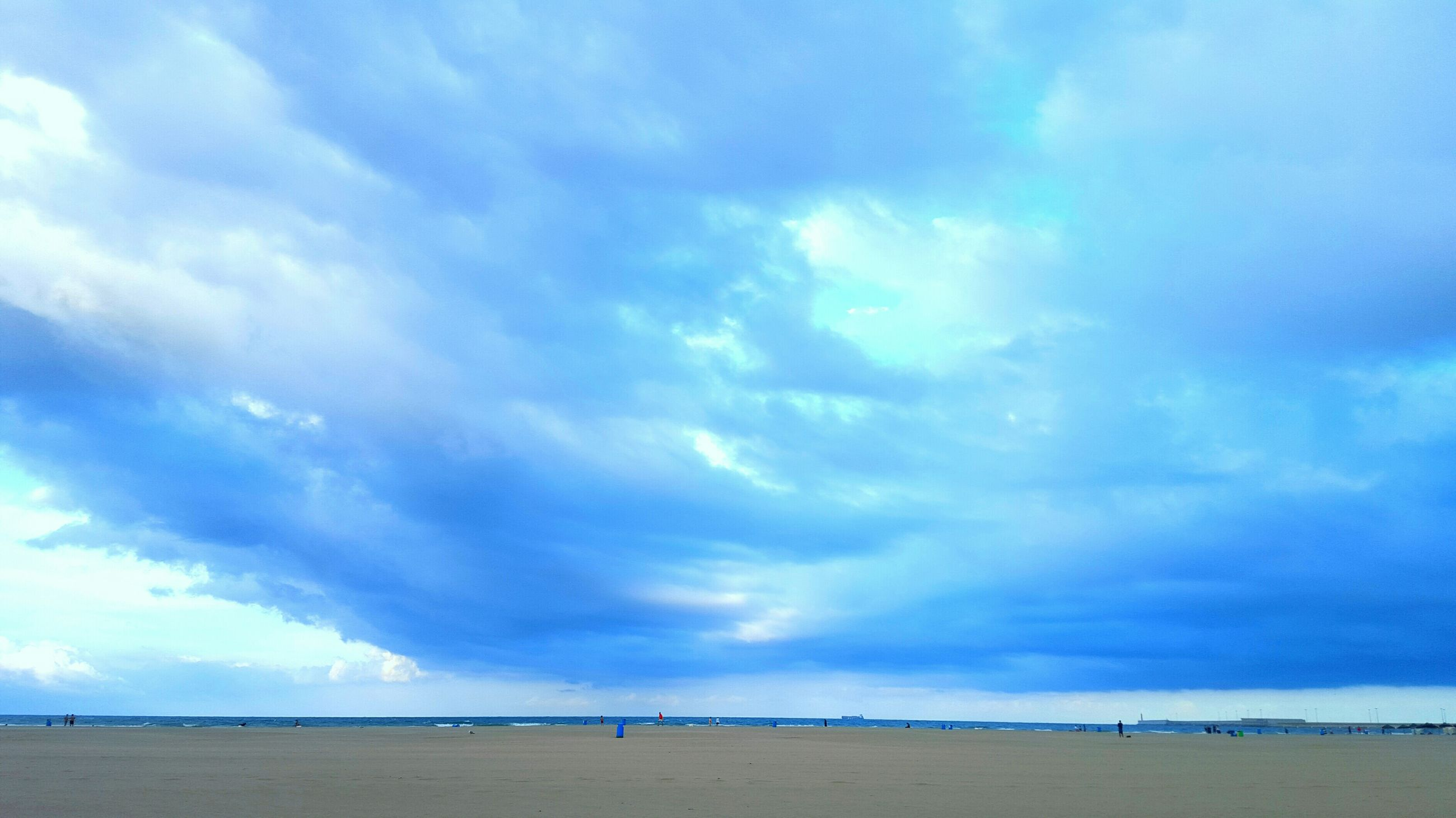 sea, beach, sky, horizon over water, water, shore, scenics, cloud - sky, tranquility, sand, tranquil scene, beauty in nature, blue, cloud, nature, cloudy, idyllic, incidental people, vacations, outdoors