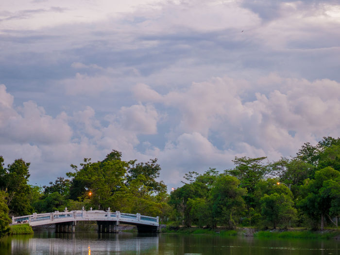 Thai view Cloud - Sky Sky Water Tree Plant Nature Architecture Waterfront Built Structure Beauty In Nature Day Lake Tranquil Scene Tranquility Scenics - Nature No People Outdoors Growth
