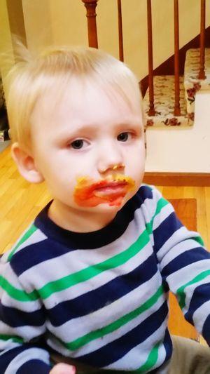 Eyeemphoto Messy Face Boy Child With Dirty Face. Little Boy Toddler  Boy Face
