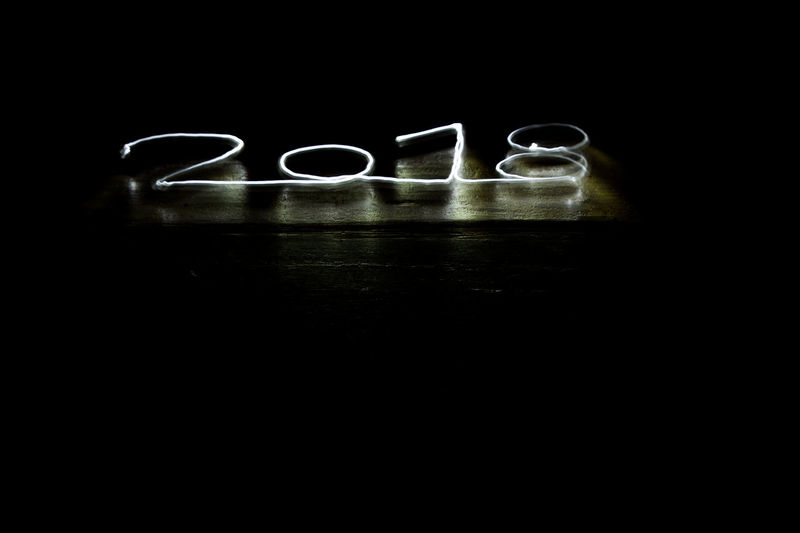 my first lightpaintings - 2018 2018 2018 Year Feast Happy Light New New Year Art Black Background Close-up Day Festival Flashlight Flashlight Art Happy New Year Hogmanay Indoors  Light And Shadow Lightpainting No People Party Studio Shot
