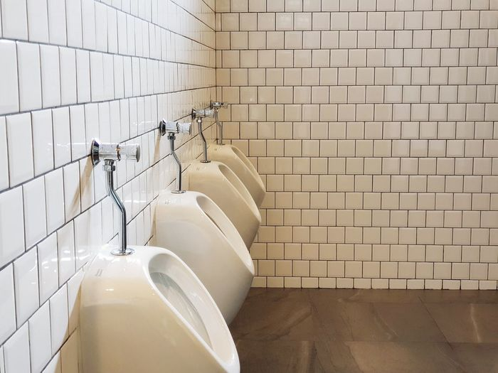 View of white wall in bathroom