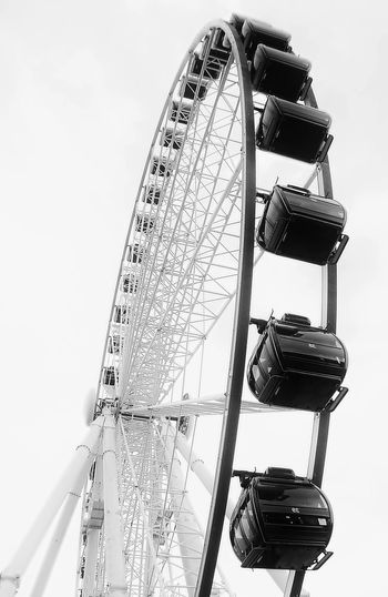 Amusement Park Ride Arts Culture And Entertainment Berlin Black & White Blackandwhite Bw Bw_collection Enjoying Life Eye4photography  EyeEm Best Edits EyeEm Best Shots Ferris Wheel Minimalism My Best Photo 2015 My Unique Style Taking Photos Tall - High Tourism Travel Destinations