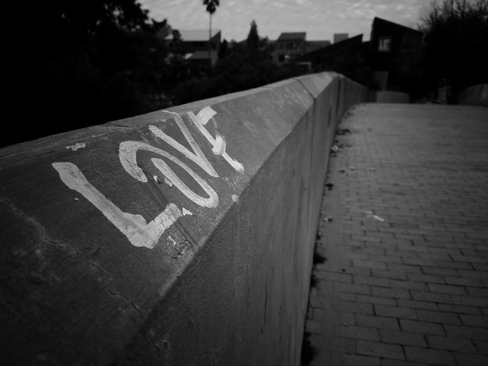 Love will find a way. Outdoors No People Day Sky Bridge Love Personal Perspective Family Time Makingmemories City Goofing Off Leisure Activity Downtown Eye4photography  Tucson Arizona  MyPhotography Creativity Cellphonephotography Close-up Graffiti Art Walkway Reminder Road Waiting