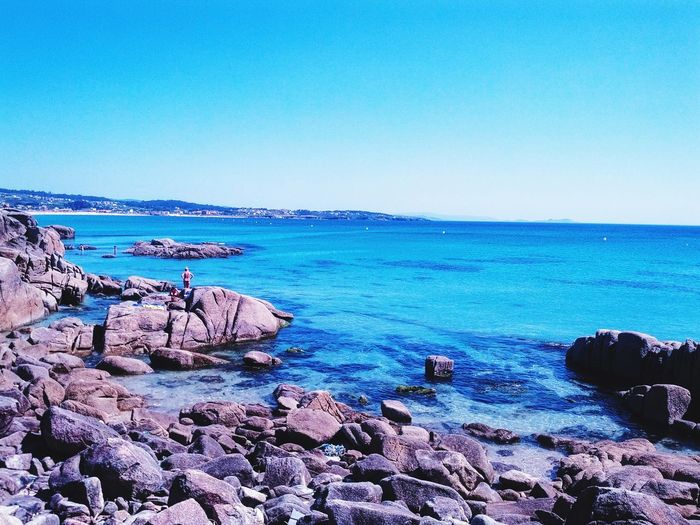 Sea Clear Sky Blue Water Horizon Over Water Tranquil Scene Beach Sky Day Tourist Clear Sky Travel Destinations Tourism