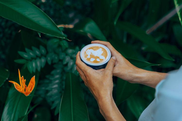 Hot coffe latte