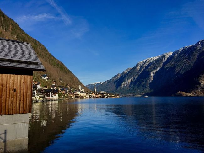 Hallstatt, Austria 💙 Water Reflection Lanscape Photography Architecture Lake View Blue Sky