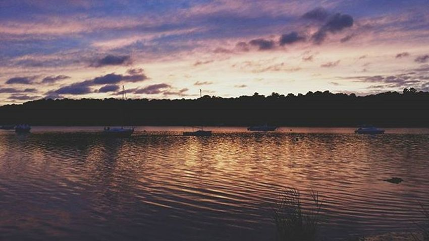 Haven't been able to drive because the cars in the shop. So no new pics. Here's an older on for TBT  to last summer. --- Mashpee, MA. Snapseed Vscocam VSCO Bestofvsco Nature Sunset Ocean Water Clouds Sky Lake Capecod Wickedcapecod Capecodinsta Capecodinstagram Capecodimages Igersnewengland Ig_capecod Massachusetts Home Vacation Summer Travel Instagood capelife