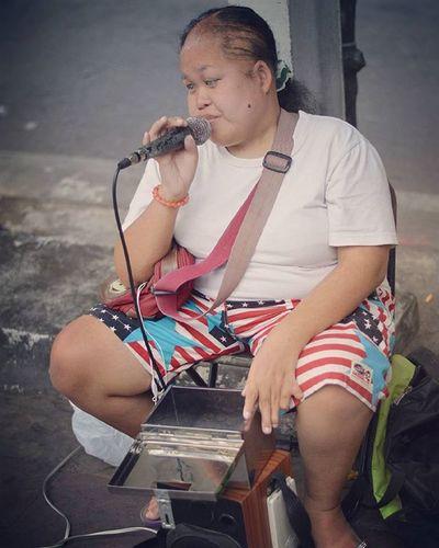 Streetartist Bangkok Streetartist Streetsinger Artist Singer  Song Music Musician Melodi Street Streetphotography City Streetphoto Photo Picture Pictures Portrait Mentalillness Poor  Girl ASIA Bangkok Thailand